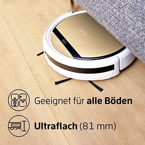 Saugroboter mit Wischfunktion  ILIFE V5s Pro automatischer Staubsauger Roboter / 2in1 nass Wischen oder Staubsaugen / Staub oder Wischsauger für Hartböden / benetzt bis zu 180qm / Fallschutz / beutellos / mit Ladestation - 4