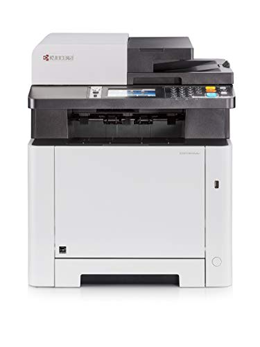 Kyocera Ecosys M5526cdw 4-in-1 WLAN Farblaser Multifunktionsdrucker, Drucker, Kopierer, Scanner, Faxgerät, mit Mobile-Print-Unterstützung für Smartphone und Tablet